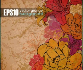 Vector grunge background with Retro elements 02