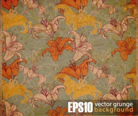 Vector grunge background with Retro elements 05