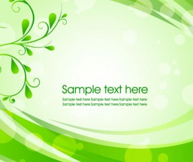 green background with leaves vector 01
