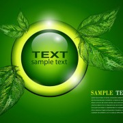 Link toGreen background with leaves vector 02