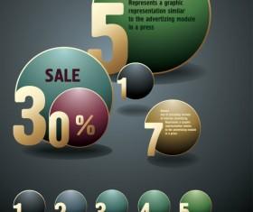 Creative of Original banners vector graphics 01