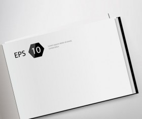 Set of Album and magazine template blank page vector 01