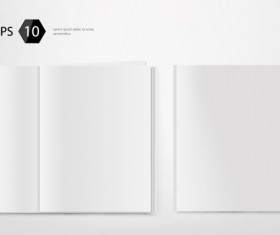Set of Album and magazine template blank page vector 03