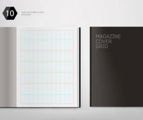 Set of Album and magazine template blank page vector 04