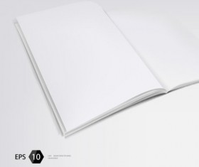 Set of Album and magazine template blank page vector 05