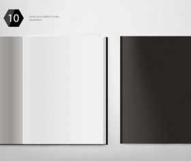 Set of Album and magazine template blank page vector 06