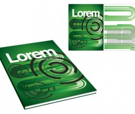 Book and magazine cover design elements vector graphics 02