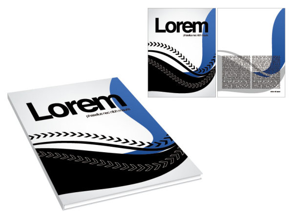 Book and magazine cover design elements vector graphics 05