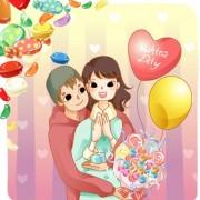 Link toElements of romantic cartoon lovers vector set 20