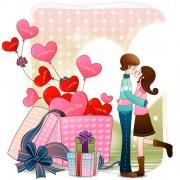Link toElements of romantic cartoon lovers vector set 22