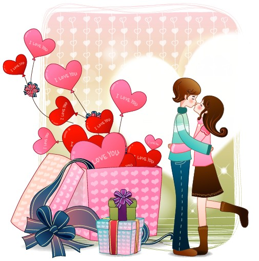 Couples On Bed Of Couples With Quote Romantic Cartoon Images Romantic
