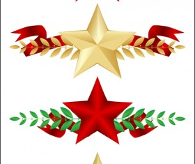 Festival elements of 23 february and stars design vector 02