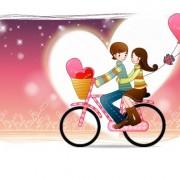 Link toElements of romantic cartoon lovers vector set 09