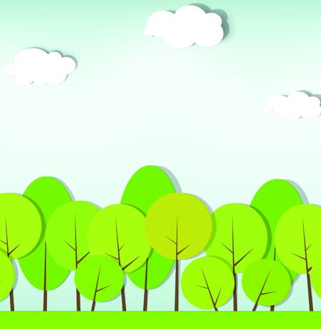 Elements of Applique nature design vector 03