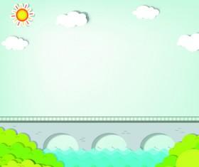 Elements of Applique nature design vector 04