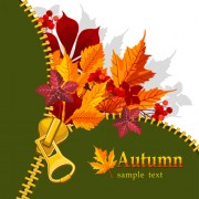 Link toAutumn elements and gold leaves background vector 04