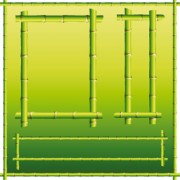 Link toSet of different of bamboo frame design vector 01