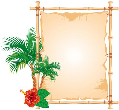 Frame Design Intended Set Of Different Bamboo Frame Design Vector 02 Free Download
