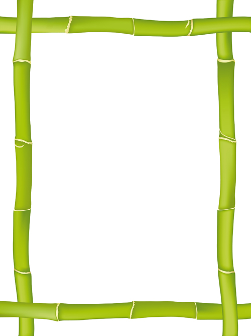 Set of Different of Bamboo Frame design vector 03