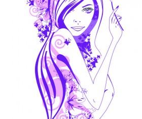 Beautiful of Fashion Girls vector graphic 05