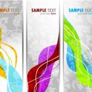 Link toBright stylish banners design vector set 01