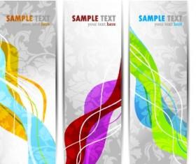 Bright Stylish banners design vector set 01