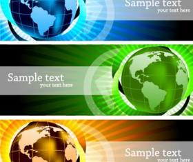 Bright Stylish banners design vector set 02