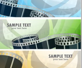 Bright Stylish banners design vector set 03
