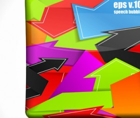 Set of Bright colored banners vector 01