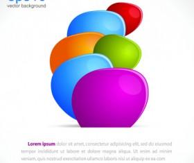 Bright colored pebble vector background 02