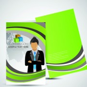Link toCover brochure and business card vector set 01