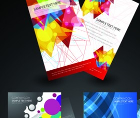 Cover brochure and Business card vector set 02