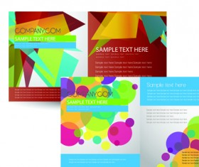 Cover brochure and Business card vector set 03