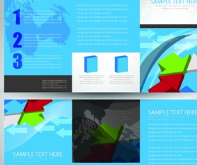 Business cards and brochure covers design vector 01