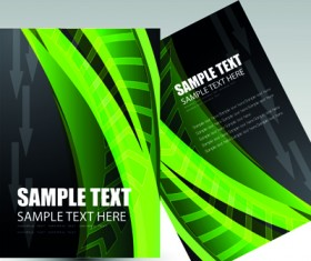 Business cards and brochure covers design vector 02