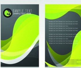 Business cards and brochure covers design vector 03