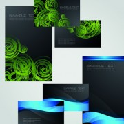Link toBusiness cards and brochure covers design vector 04