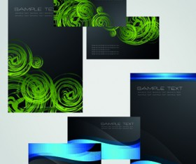 Business cards and brochure covers design vector 04