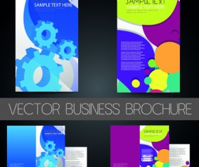Business cards and brochure covers design vector 05