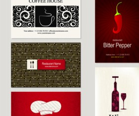 Different Business cards design vector graphics 02