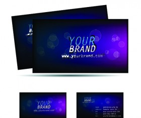Different Business cards design vector graphics 04