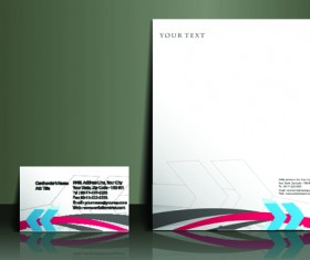 Business style flyer and cover brochure vector 01