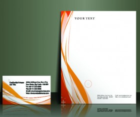 Business style flyer and cover brochure vector 02