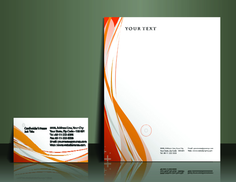 business style flyer and cover brochure vector 02 free download