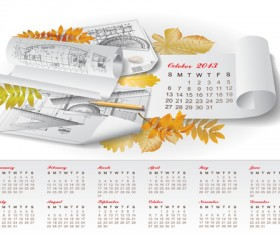 Set of Creative Calendar 2013 design vector 01