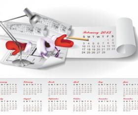 Set of Creative Calendar 2013 design vector 02