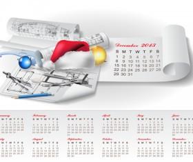 Set of Creative Calendar 2013 design vector 04