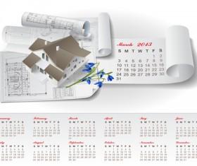 Set of Creative Calendar 2013 design vector 06