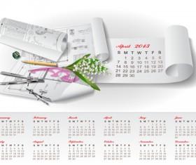 Set of Creative Calendar 2013 design vector 08
