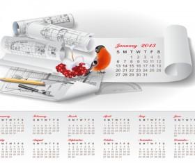 Set of Creative Calendar 2013 design vector 09